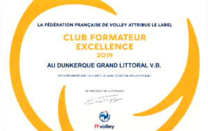 Label Club Formateur EXELLENCE 2019
